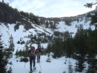 Snowshoeing in the cirque.