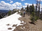 Nearing the summit of Peak 8569'.