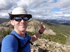 Celebrating my 11th summit of the day, Rainbow Ridge #1. Had to start over on fingers.