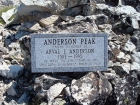 Large etched stone on the summit of Anderson Peak (9704').