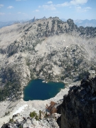 Arrowhead Lake, Blacknose Mountain, and the Rakers from the summit of Anderson Peak.