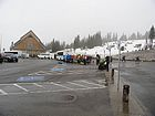 Climbers getting ready to depart from Paradise visitor's center. We wouldn't be alone on the mountain.