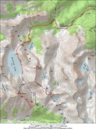 Map of our route, a round trip of 17 miles and 5600' gain.