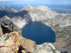 Awesome view of Sawtooth Lake from the summit of Mount Regan.