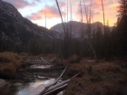 Sunset view from the Iron Creek meadow.