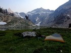 Our campsite in the upper Goat Creek drainage.
