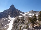 Our next objective, Thompson Peak, highest in the Sawtooths.