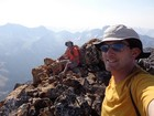 Mount Regan summit shot. No time to relax, gotta figure out how to get down this thing.