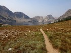 Approaching Sawtooth Lake from the south.