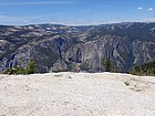 View of Yosemite Falls from the summit.