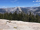 Half Dome and Nevada Falls from the summit.