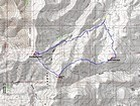 Map of our route, 9.5 miles and 4300' elevation gain round trip. We went counterclockwise.