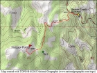 Map of the route, 3 miles and 700' elevation gain round trip.