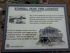 Interpretive sign about the lookout building.