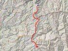 Map of the route, 7 miles and 1000' gain round trip.