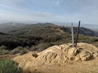 View north from the summit of Temescal Peak.