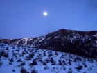 Moonrise shot as we got back to the trailhead.