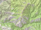 Map of the route, 8 miles and 2700' gain round trip.
