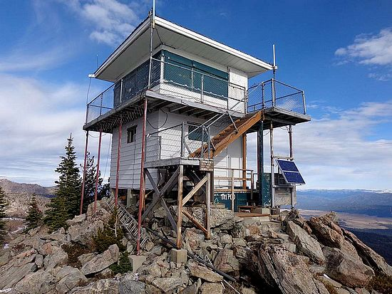 Fire Lookout on Tripod Peak