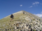 JJ and Jordan making their way up the southwest ridge of Blackmon Peak.