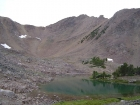 The east face of Patterson Peak from Four Lakes Basin.