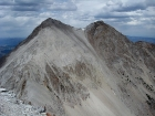 South face of Caulkens Peak from WCP-9. I had descended the chute on the right, the one with snow patches at top and bottom.