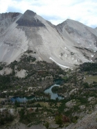 Ocalkens Lake and Calkens Peak from WCP-6.