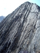 Slabs on the steep north face of WCP-8.