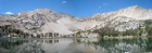 Hummock Lake panorama, with Lonesome Peak on the left.