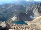 Looking down on Castle Lake from Merriam Peak.