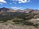 Amazing view of the upper Warm Springs Creek drainage.