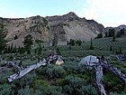 Our campsite in Iron Basin, Watson Peak in the background.