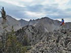 Me on the summit of my final White Cloud Wilderness Peak. Pat M photo.