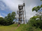 Fire towers on the summit of Timms Hill.