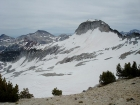 A good view of Glacier Peak and Cusick Mountain from the southern slopes of the Eagle Cap.