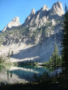 Warbonnet and friends towering above lower Bead Lake.