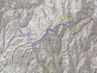 Map of the route, 10.5 miles and 2500' gain round trip.