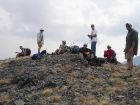 Here's the group taking a break on the summit of South Wet Peak.