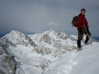 Me on the summit, with Mount Idaho and Mount Borah in the background.