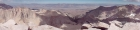 Panoramic view looking east from Mount Whitney, with Mount Russell on the far left.