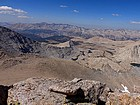 View of the Great Western Divide from Trojan Peak.