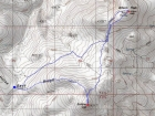 Map of the route, 6 miles round trip with 1500' elevation gain.