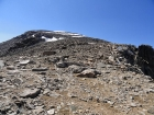 Tedious boulder fields guard the summit of Jackson Peak.