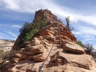 Heading up the spine of Angels Landing.
