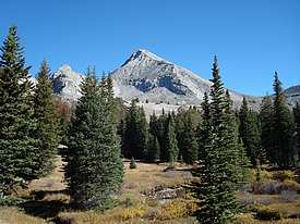 Hyndman Peak from the entry to the upper basin.