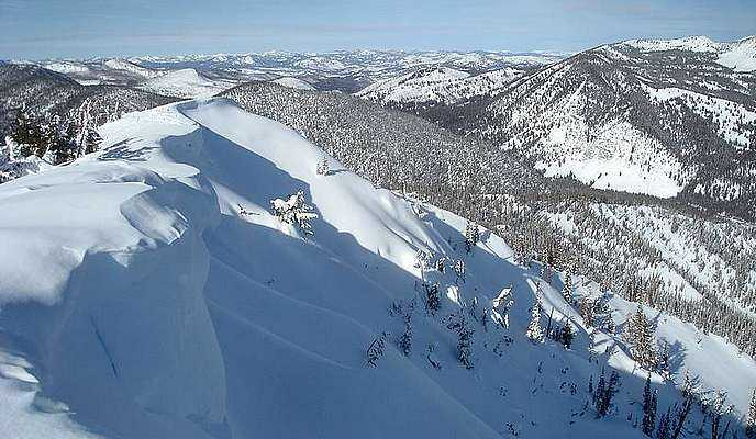 Cornices on the summit of Copper Mountain.