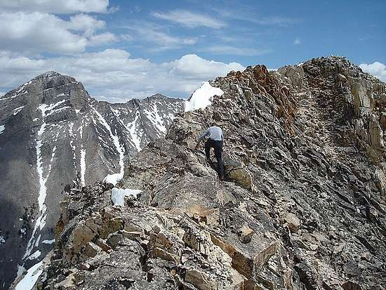 Michael crossing the DBW summit ridge.