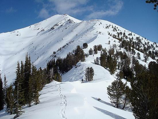 Looking up the southwest ridge of Galena Peak.