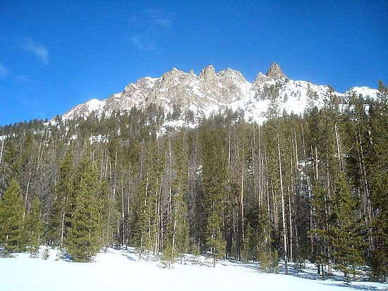 The east face of Peak 9367', from Frenchman Creek.